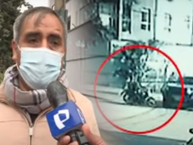 Buscan a chofer que atropelló a motociclista en Surco