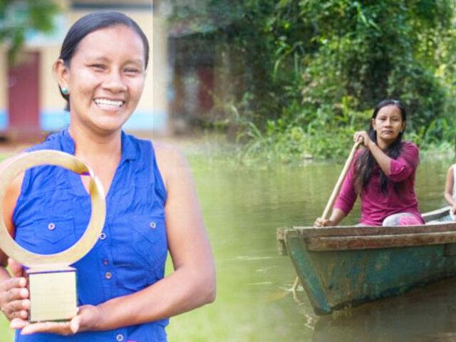 Líder indígena bora gana premio Goldman por impulsar reserva de Yaguas en la Amazonía