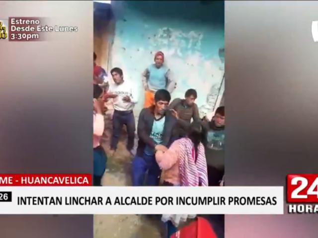 Huancavelica: turba casi lincha a alcalde del distrito de Cosme