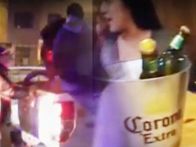 Serenos intervienen bar clandestino en pleno toque de queda