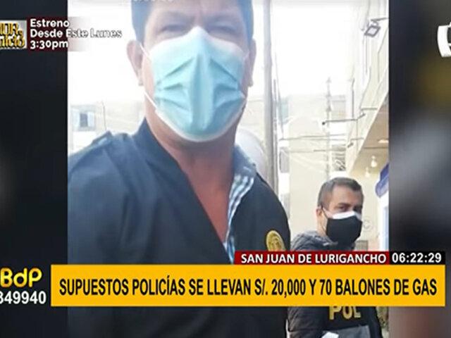 Supuestos policías se llevan 70 balones y S/20 mil: empresarios quedaron al borde de la quiebra