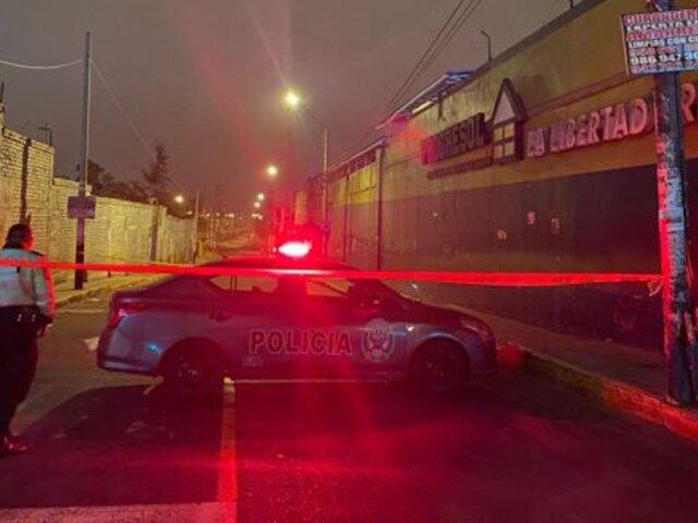 Comas: mototaxista es asesinado a quemarropa por presunto ajuste de cuentas