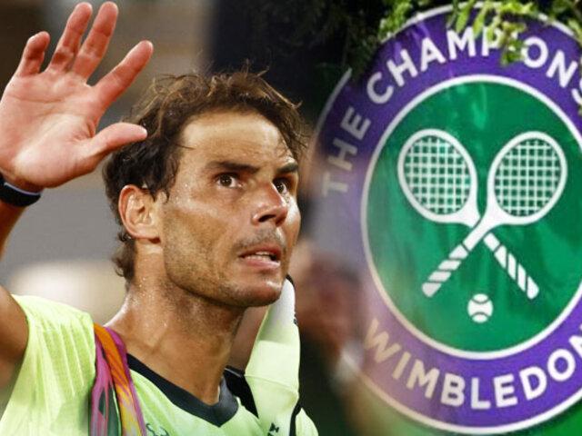 Rafael Nadal renuncia a Wimbledon y a los Juegos Olímpicos de Tokio