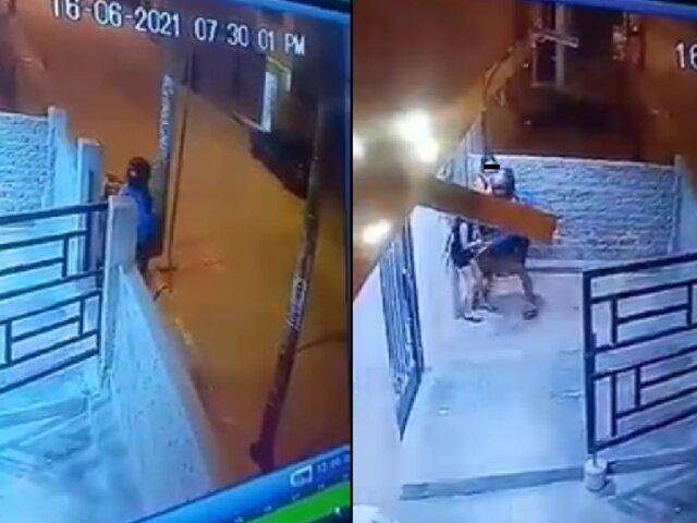 Delincuente amenaza con pistola y asalta a niñas en la puerta de su casa