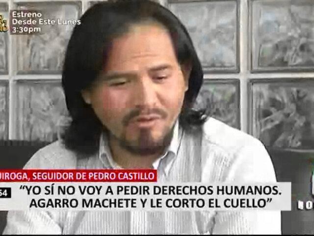 Edward Quiroga insiste en que se levantará contra un eventual gobierno de Fujimori