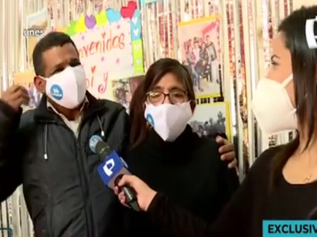 Emotivos reencuentros de padres con su familia tras vencer a la Covid-19