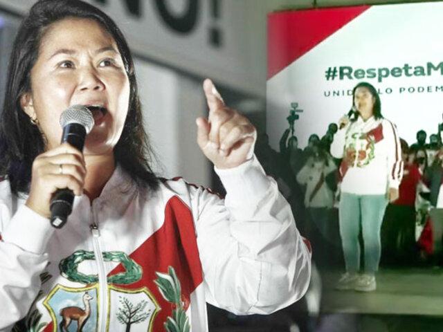 """Keiko Fujimori: """"No vamos a aceptar que se roben nuestros votos"""""""