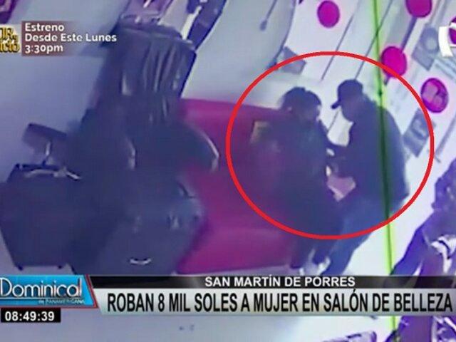 SMP: roban 8 mil soles a mujer en salón de belleza tras retirar dinero de banco