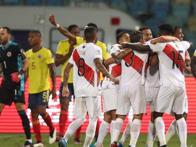 Perú venció 2-1 a Colombia y sumó sus primeros 3 puntos en la Copa América [VÍDEO]