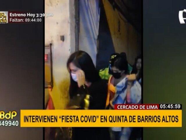 Cercado de Lima: intervienen a 25 personas en fiesta clandestina en Barrios Altos