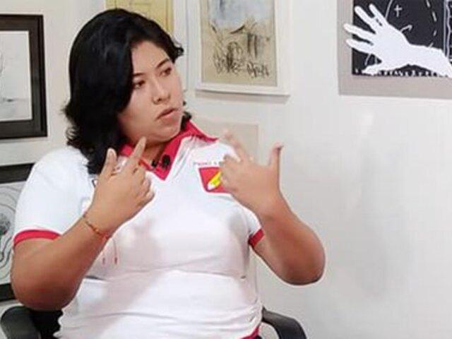 """Congresista Betsy Chávez: """"Tenemos una izquierda bruta y achorada"""""""
