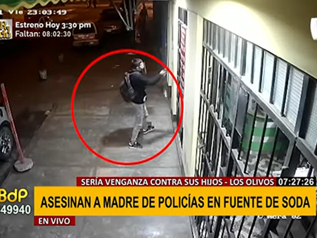 Los Olivos: sicario asesina a madre de policías, presuntamente, por venganza