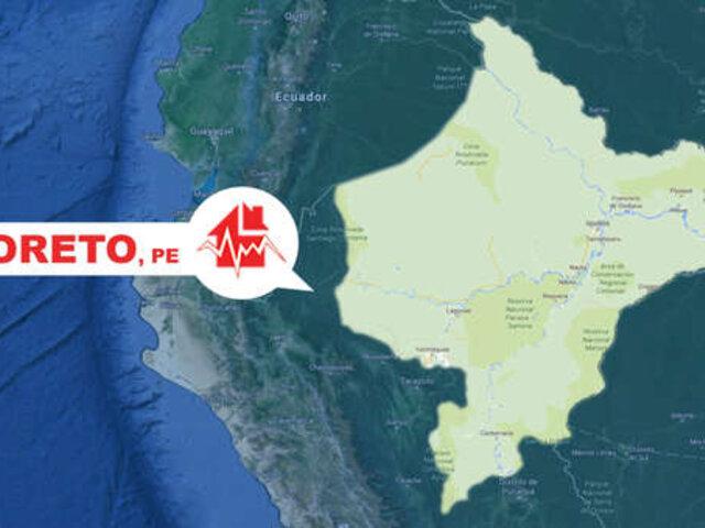 Loreto: sismo de magnitud 4.8 se registró hace instantes