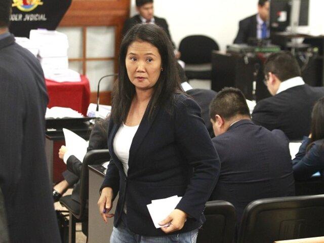Keiko Fujimori: Poder Judicial rechazó pedido de prisión preventiva en su contra