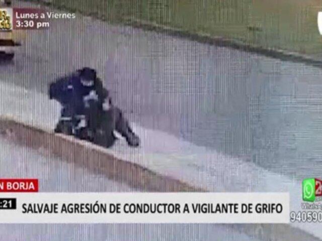 San Borja: chofer agredió a vigilante de grifo tras estacionarse en zona prohibida
