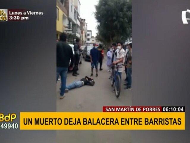 Balacera entre barristas en SMP: enfrentamiento deja un muerto y un herido