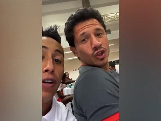 Selección peruana: 'Cuto' Guadalupe responde saludo de Lapadula, Cueva y Carrillo