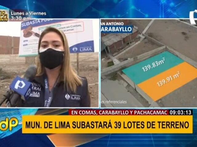 Sepa cómo participar en la subasta de terrenos en Comas, Carabayllo y Pachácamac