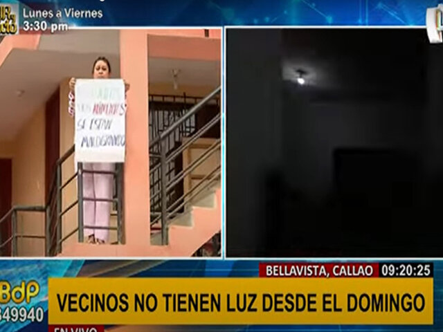 Callao: vecinos de Bellavista denuncian mal servicio eléctrico de la empresa Enel