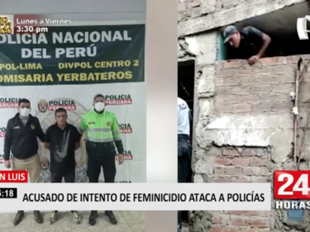 San Luis: acusado de intento de feminicidio ataca a policías