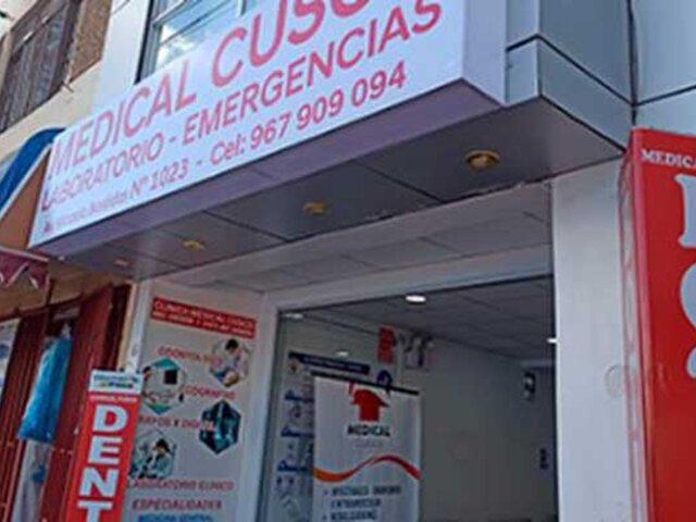 Cusco: intervienen falso consultorio médico y detienen a cuatro personas