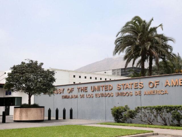 EEUU expresa su confianza en instituciones del Perú y espera trabajar con nuevo gobierno