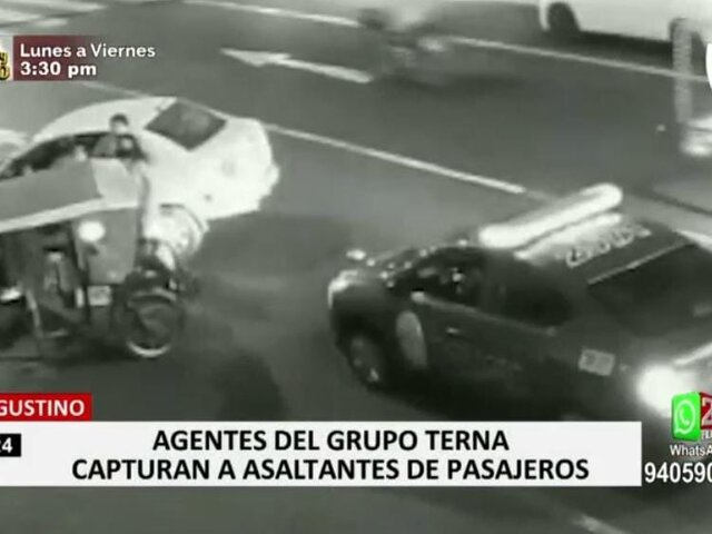 Cae menor que formaba parte de peligrosa banda de delincuentes en El Agustino