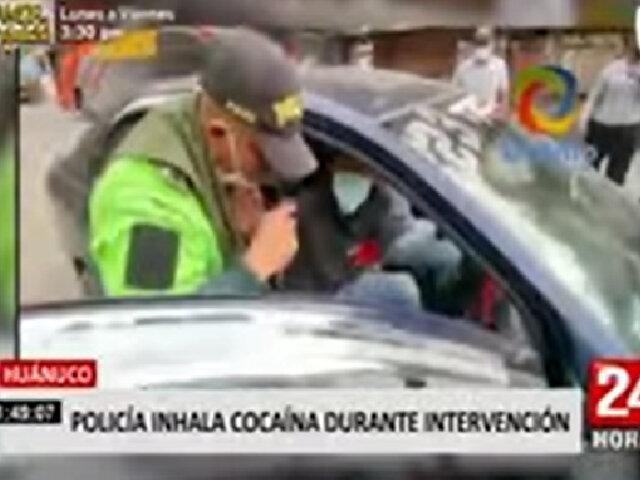 Huánuco: PNP inhaló droga durante intervención para identificar mercadería ilícita