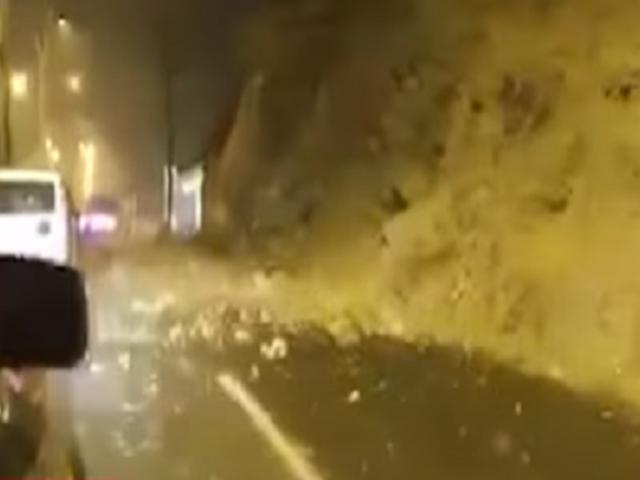 Chaclacayo: desprendimiento de piedras y rocas tras sismo de magnitud 6.0