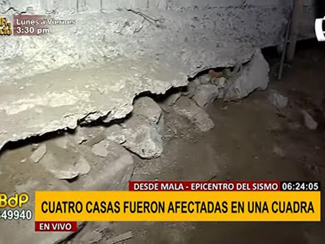 EXCLUSIVO | Desde Mala: muro de contención quedó en el aire tras fuerte sismo