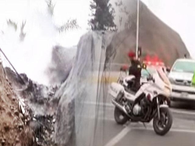 "Vándalo incendia geomallas de la ""Bajada Armendáriz"""