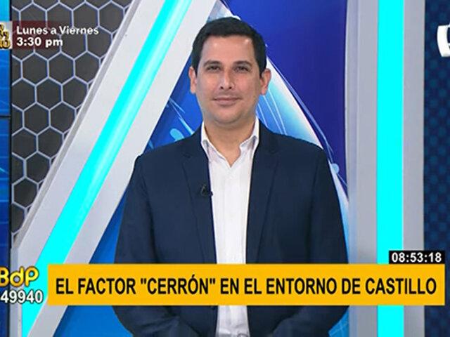 César Combina: Cerrón no permitiría un gobierno autónomo a Pedro Castillo