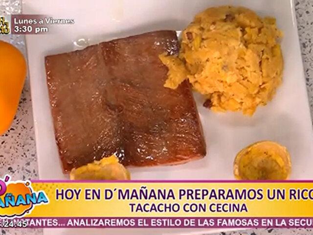 Sorprende en casa a la familia con una deliciosa receta: tacacho con cecina