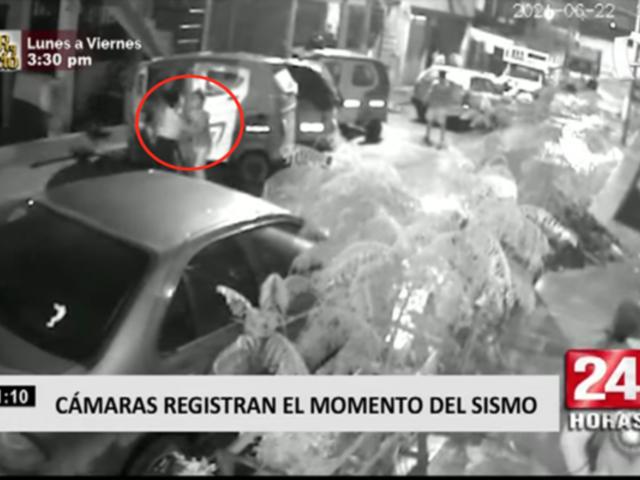 Cámaras de seguridad registraron el temor de los vecinos de Lima frente al sismo