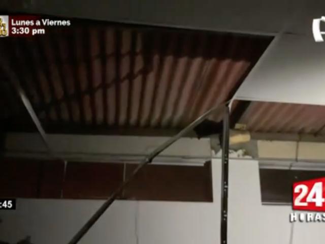 Falso techo de inmueble colapsó a causa de sismo del último martes