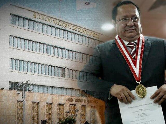 JNE resuelve suspender al fiscal Luis Arce como miembro titular del pleno