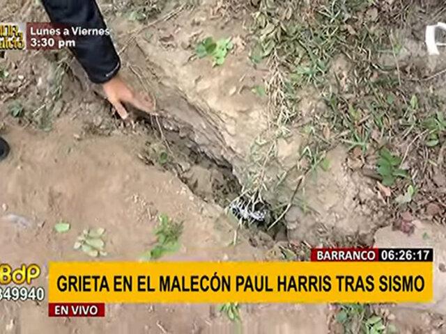 Sismo de 6.0 grados: piden reforzar malecón Paul Harris ante enorme grieta