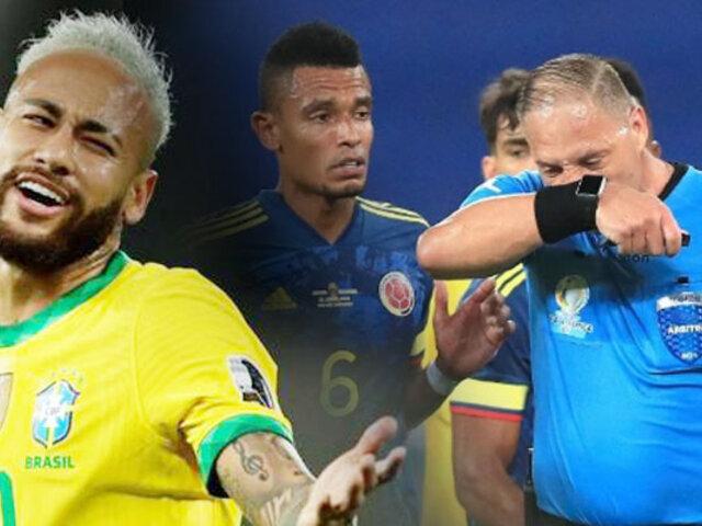 Copa América: Colombia solicitó suspensión de árbitros de duelo ante Brasil