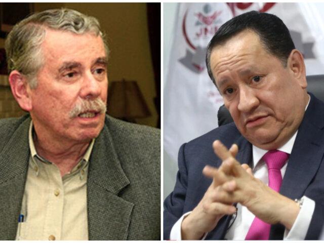 Fernando Rospigliosi rechazó participación de Fuerza Popular en declinación de Arce al JNE