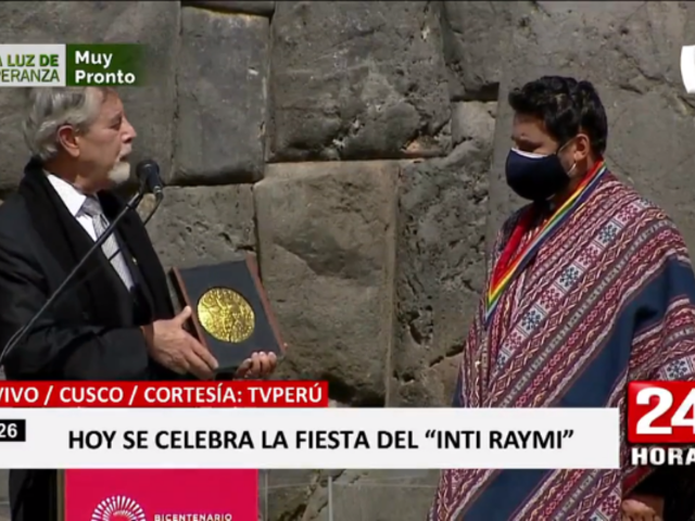 Francisco Sagasti participó de inauguración de fiesta del Inti Raymi