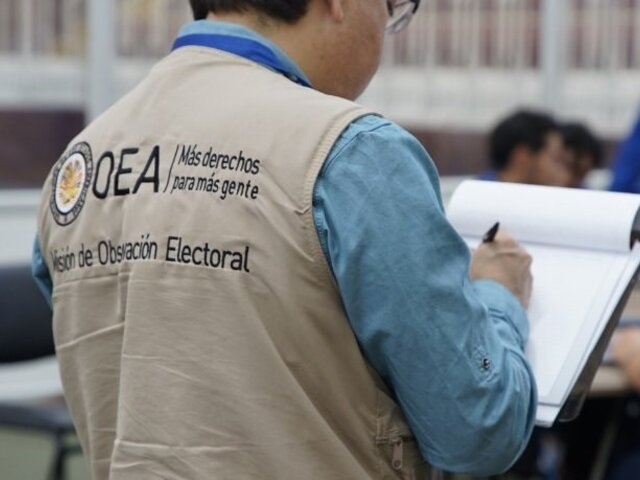 Misión de observación de la OEA señala que el JNE actúa 'apegada a la norma vigente'