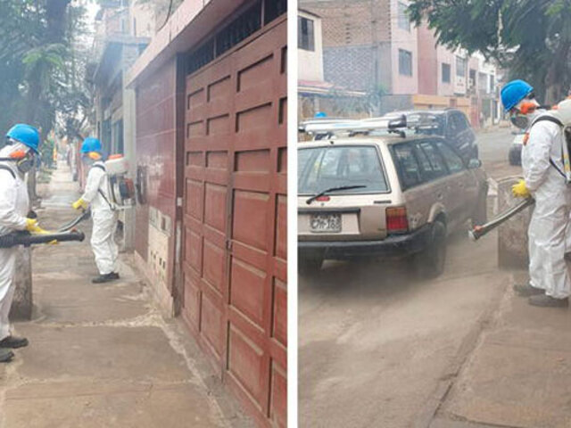 Covid-19: municipio de Comas desinfecta calles tras confirmarse presencia de variante Delta