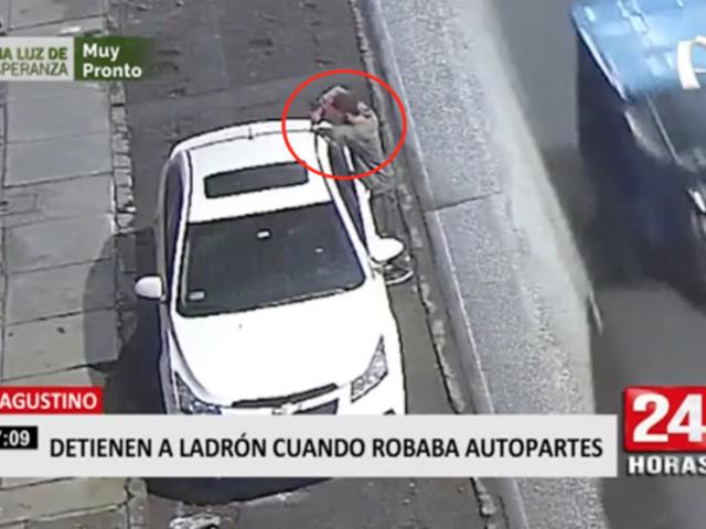 Cae sujeto que robaba autopartes en El Agustino