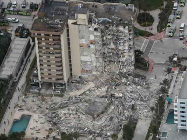 Miami: carta enviada en abril alertaba colapso de edificio Champlain Towers