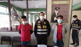 Cusco: PNP capturó a banda que pedía dinero a turista para devolver celular