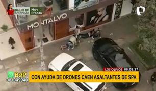 Robo en spa de Los Olivos: Policía logra detención gracias a imágenes de drones