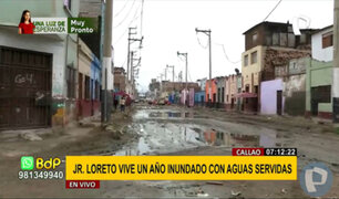 Callao: vecinos de jr. Loreto viven entre aguas servidas desde hace un año