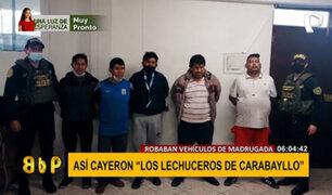 """Caen los """"lechuceros de Carabayllo"""", banda dedicada al robo de vehículos"""
