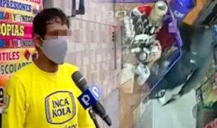 Comerciantes y vecinos viven aterrados por la delincuencia en La Victoria