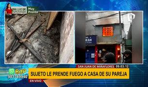 SJM: sujeto que habría provocado incendio en casa de su pareja ya fue capturado